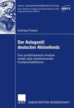 Abbildung von Postert | Der Anlagestil deutscher Aktienfonds | 1. Auflage | 2007 | beck-shop.de