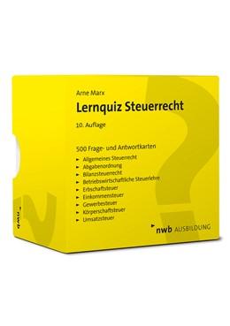 Abbildung von Marx | Lernquiz Steuerrecht | 10. Auflage | 2021 | beck-shop.de