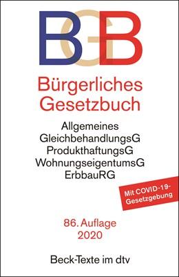 Abbildung von Bürgerliches Gesetzbuch: BGB | 86. Auflage | 2020 | 5001 | beck-shop.de