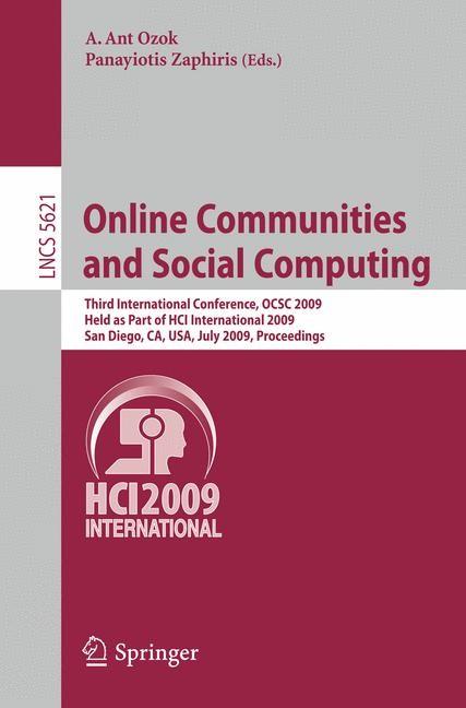 Abbildung von Ozok / Zaphiris | Online Communities and Social Computing | 2009
