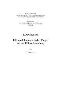 Abbildung von Skarsouli   P.Oxyrhyncha   1. Auflage   2020   beck-shop.de