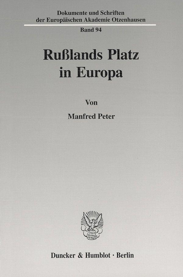 Abbildung von Peter | Rußlands Platz in Europa. | 2001