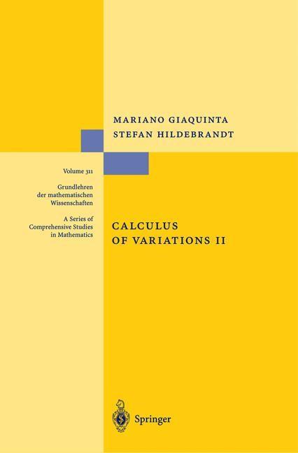 Abbildung von Giaquinta / Hildebrandt | Calculus of Variations II | 1st ed. 1996. Corr. 2nd printing | 2004