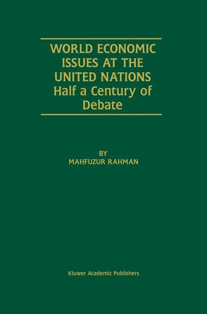 Abbildung von Rahman | World Economic Issues at the United Nations | 2002 | 2001
