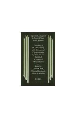 Abbildung von Falk / García Martínez / Schuller | Sapiential, Liturgical and Poetical Texts from Qumran | 2000