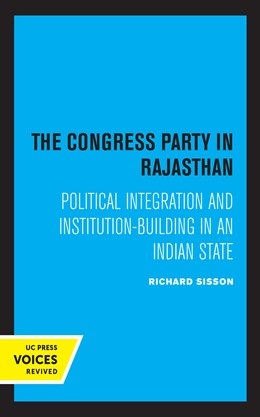 Abbildung von Sisson | The Congress Party in Rajasthan | 1. Auflage | 2021 | beck-shop.de