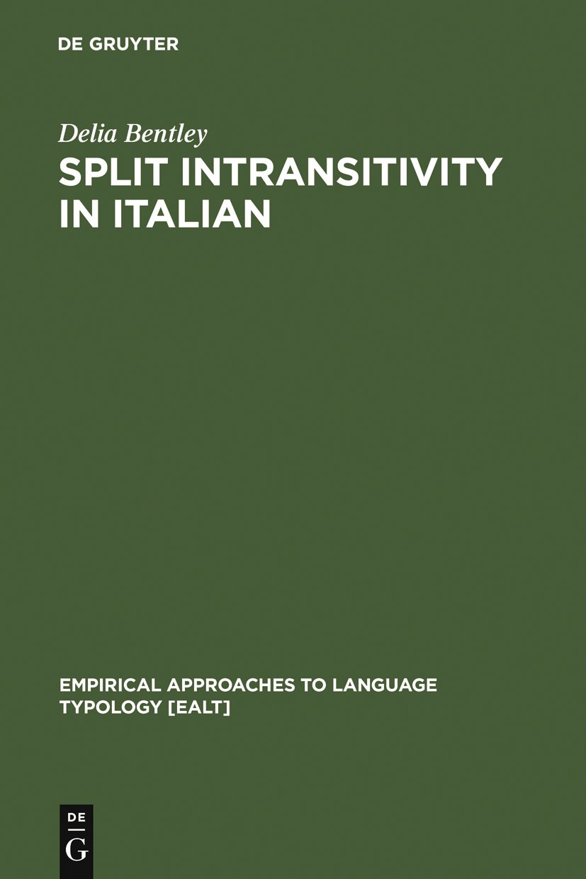 Abbildung von Bentley | Split Intransitivity in Italian | Reprint 2011 | 2006