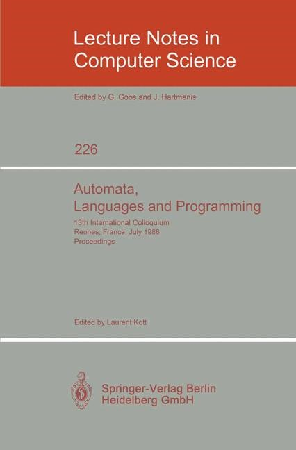 Abbildung von Kott | Automata, Languages and Programming | 1986