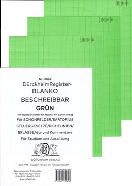 Abbildung von Dürckheim   DürckheimRegister® BLANKO-GRÜN beschreibbar für deine Gesetze   1. Auflage   2020   beck-shop.de