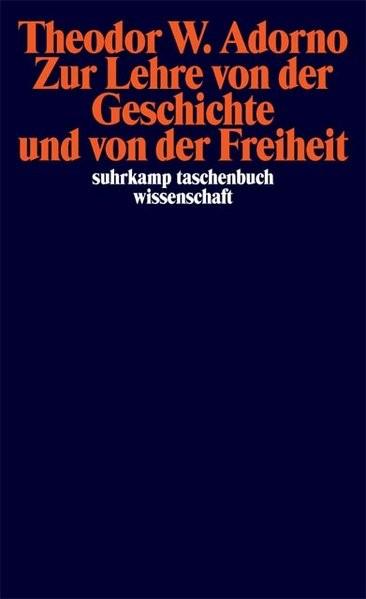 Abbildung von Adorno / Tiedemann   Zur Lehre von der Geschichte und von der Freiheit   2006