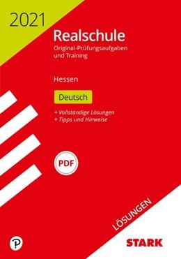 Abbildung von STARK Lösungen zu Original-Prüfungen und Training Realschule 2021 - Deutsch - Hessen | 1. Auflage | 2020 | beck-shop.de