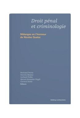 Abbildung von Droit pénal et criminologie | 1. Auflage | 2020 | beck-shop.de