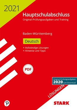 Abbildung von STARK Lösungen zu Original-Prüfungen und Training Hauptschulabschluss 2021 - Deutsch 9. Klasse - BaWü | 1. Auflage | 2020 | beck-shop.de