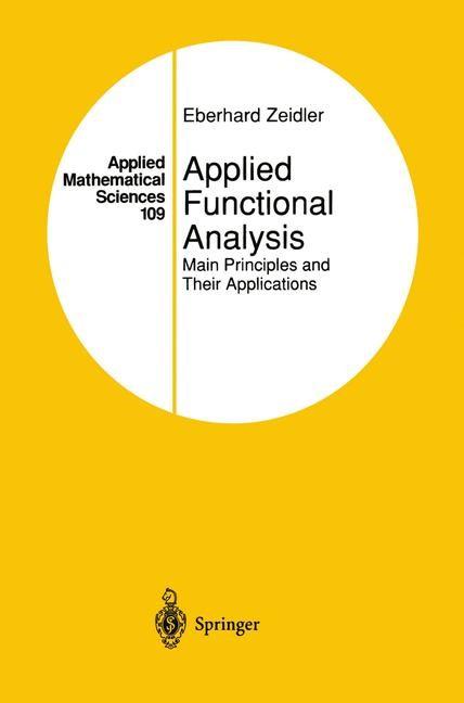 Abbildung von Zeidler | Applied Functional Analysis | 1995