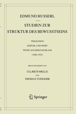 Abbildung von Husserl / Melle | Studien zur Struktur des Bewusstseins | 1. Auflage | 2020 | beck-shop.de