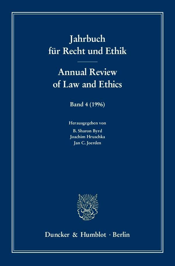 Abbildung von Byrd / Hruschka / Joerden | Jahrbuch für Recht und Ethik / Annual Review of Law and Ethics | 1996