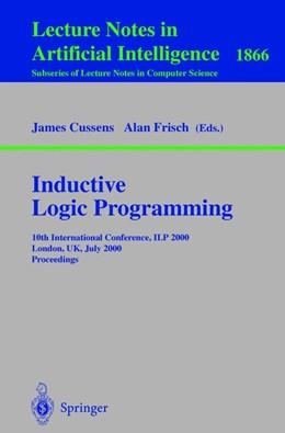 Abbildung von Cussens / Frisch | Inductive Logic Programming | 2000 | 10th International Conference,...