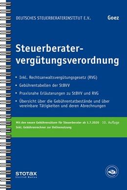 Abbildung von Goez | Steuerberatervergütungsverordnung | 10. Auflage | 2020 | beck-shop.de