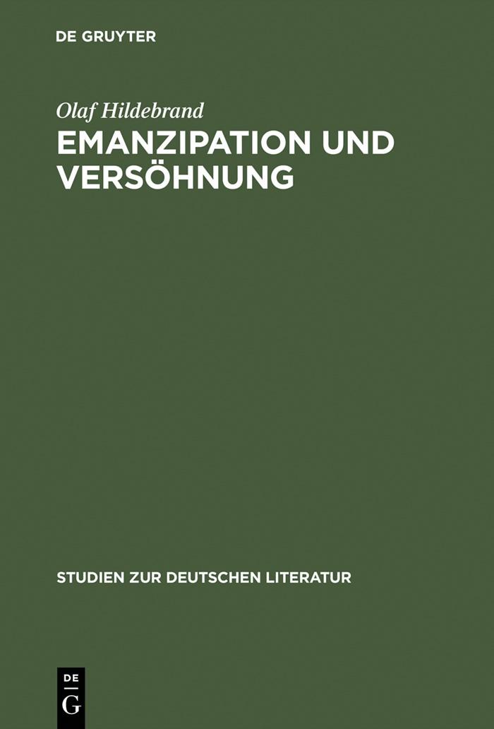 Abbildung von Hildebrand | Emanzipation und Versöhnung | Reprint 2015 | 2001