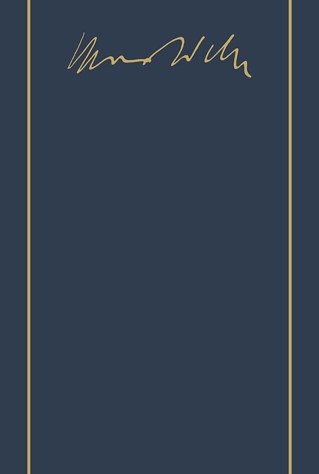 Max Weber-Gesamtausgabe | Borchardt / Weber, 2000 | Buch (Cover)