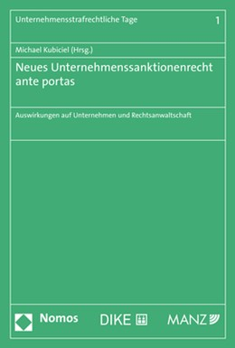 Abbildung von Kubiciel | Neues Unternehmenssanktionenrecht ante portas | 1. Auflage | 2020 | 1 | beck-shop.de