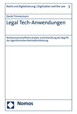 Abbildung von Timmermann | Legal Tech-Anwendungen | 1. Auflage | 2020 | 3 | beck-shop.de