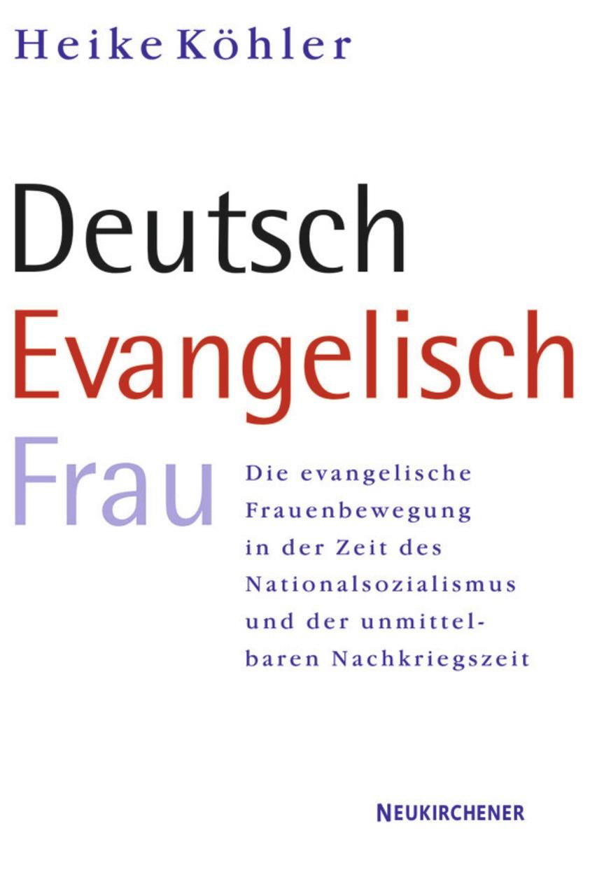 Abbildung von Köhler   Deutsch - Evangelisch - Frau   2003