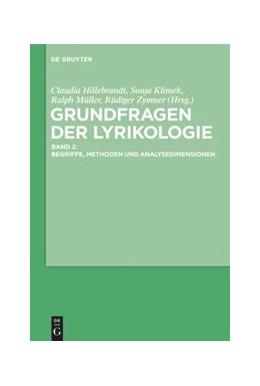 Abbildung von Hillebrandt / Klimek | Grundfragen der Lyrikologie 2 | 1. Auflage | 2020 | beck-shop.de