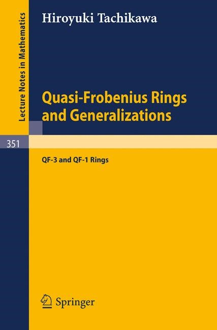 Abbildung von Tachikawa | Quasi-Frobenius Rings and Generalizations | 1973