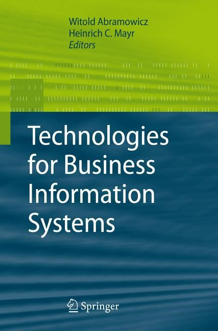 Technologies for Business Information Systems | Abramowicz / Mayr, 2007 | Buch (Cover)