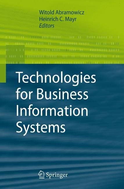 Abbildung von Abramowicz / Mayr | Technologies for Business Information Systems | 2007