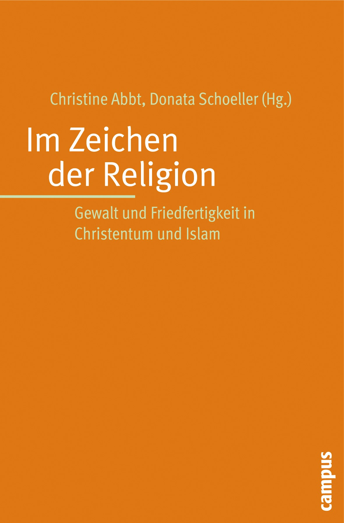 Im Zeichen der Religion | Abbt / Schoeller, 2009 | Buch (Cover)