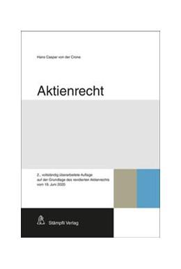 Abbildung von Crone | Aktienrecht | 2. Auflage | 2020 | beck-shop.de