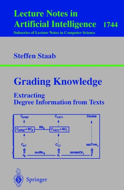 Abbildung von Staab | Grading Knowledge | 1999