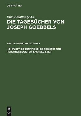 Abbildung von Institut für Zeitgeschichte | Geographisches Register und Personenregister. Sachregister | 2008