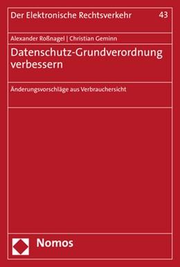 Abbildung von Roßnagel / Geminn | Datenschutz-Grundverordnung verbessern | 1. Auflage | 2020 | beck-shop.de