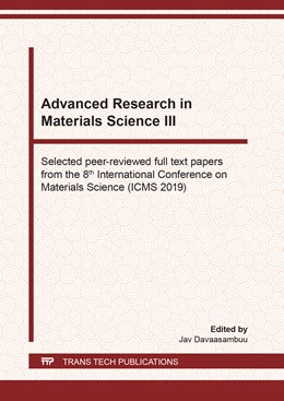 Abbildung von Davaasambuu   Advanced Research in Materials Science III   1. Auflage   2020   beck-shop.de