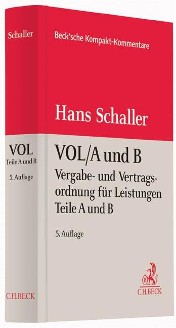 Abbildung von Schaller   VOL/A und B   5., überarbeitete Auflage   2014