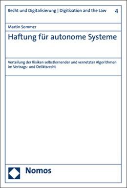 Abbildung von Sommer | Haftung für autonome Systeme | 1. Auflage | 2020 | beck-shop.de
