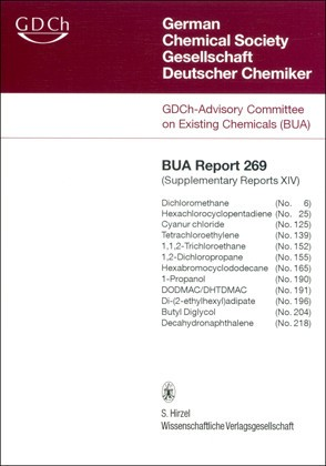 Abbildung von GDCh-Advisory Committee on Existing Chemicals of Environmental Relevance (BUA)   269 BUA-Report: Supplementary Reports XIV   2008
