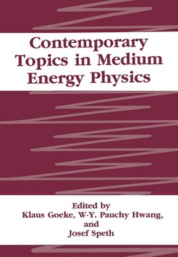 Abbildung von Goeke / Hwang / Speth | Contemporary Topics in Medium Energy Physics | 1994