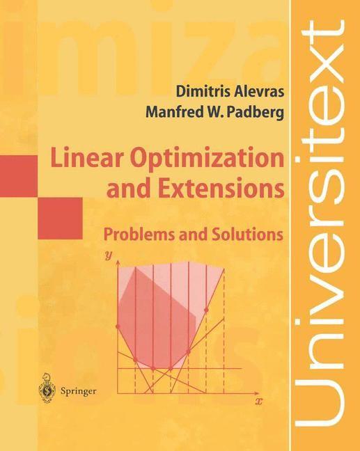 Abbildung von Alevras / Padberg | Linear Optimization and Extensions | 2001