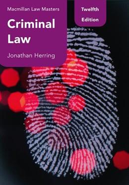Abbildung von Herring | Criminal Law | 12. Auflage | 2021 | beck-shop.de