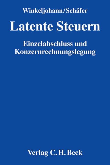 Latente Steuern | Winkeljohann / Schäfer, 2018 | Buch (Cover)