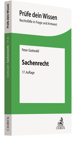 Abbildung von Gottwald   Sachenrecht   17. Auflage   2021   beck-shop.de