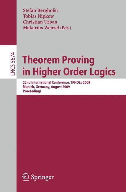 Abbildung von Berghofer / Nipkow / Urban / Wenzel | Theorem Proving in Higher Order Logics | 2009