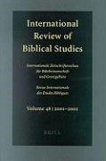 Abbildung von Lang | International Review of Biblical Studies, Volume 48 (2001-2002) | 2003