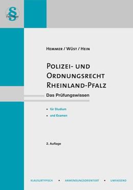 Abbildung von Hemmer / Wüst | Polizei- und Ordnungsrecht Rheinland-Pfalz | 2. Auflage | 2020 | beck-shop.de