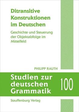 Abbildung von Rauth   Ditransitive Konstruktionen im Deutschen   1. Auflage   2020   beck-shop.de