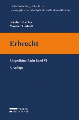 Abbildung von Eccher / Umlauft   Erbrecht   7. Auflage   2020   beck-shop.de